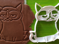 Angry Cat Cookie Cutter