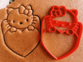 Hello Kitty with heart Cookie Cutter