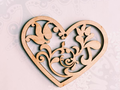 Toy heart Wooden Billet