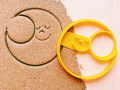 Sleeping moon Cookie cutter