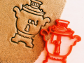 Samovar Cookie cutter