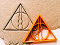 The deathly hallows symbol Cookie Cutter