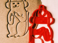 Firefighter Cat Cookie Cutter