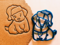 New year puppy Cookie Cutter